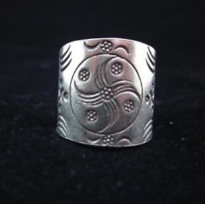 Fine Silver Rings THAI HANDMADE KAREN HILL TRIBE Windmill Wheels solid pure R71