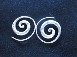 Silver earrings Hill tribe ethno Spirale Silber ohrringe della Argento ORECCHINI