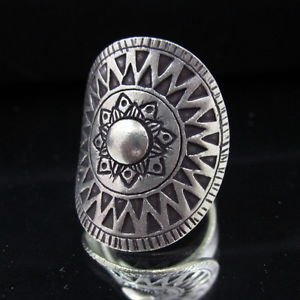Sterling 925 Silver Rings R38 Hill tribe Thai Karen Tribal Gothic Argento Anello
