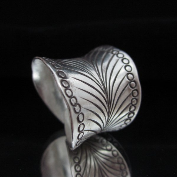 Fashion Silver Rings Tribal BOHO Feather Ethnic Anello Gümü� yüzükler خ�ات� R66