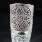 Fashion Silver Ring Tribal Lotus Flower Blumen Argento Anello Rengas خواتم R51