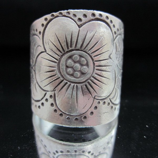Fashion Silver Ring Blossom Sakura Flower Blumen Anello fáinne Anillo خ�ات� R67