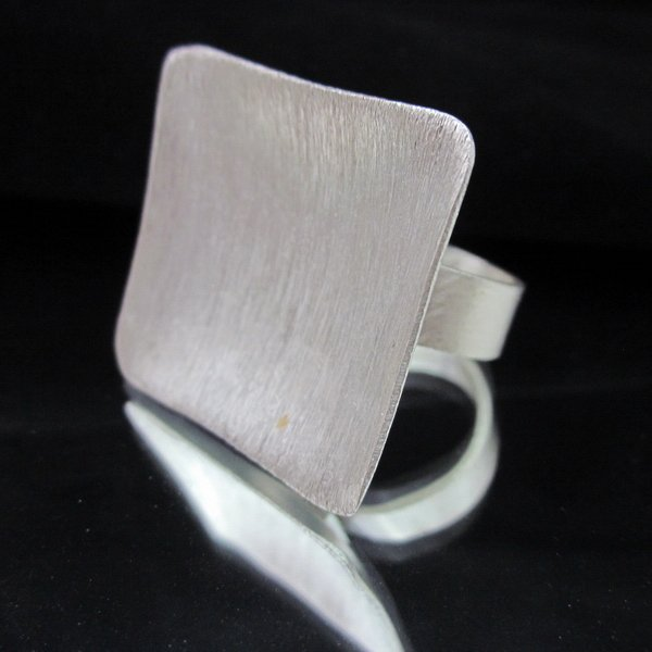 Fashion Silver Ring HILL TRIBE SQUARE HALO  Anello Gümü� yüzükler خ�ات� R62