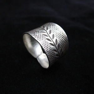 Fashion Silver Rings Hill tribe Olive ح���� خ�ات� �ض�ة ا�ا��اد�ر ��� �ب