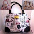 Fashion Womens Thai Purses Shoulder Handbags حقيبة  Geldbörse Travel theme P10