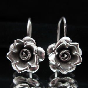 Fashion Silver Earrings Flower Rose Schmuck OHRH�NGER Ohrringe ا�أ�راط  ER160