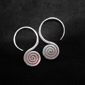 Fine Fashion Earrings Silver Spiral Coil Spin Ohrringe Schmuck Argento ER186