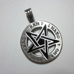 Fashion Men Jewelry Pendants Ciondolo Anhänger Pewter Magical Circle Star PC20