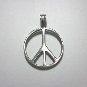 Fashion Men Jewelry Pendants Ciondolo Anhänger Pewter س�ا� Peace Symbol PC05