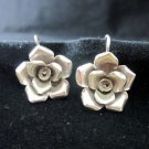 Fine Fashion Silver Earrings Ohrringe Rose Rosa Flower craft nature theme ER173