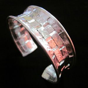 Fashion Silver Bangle Bracelet Braccialetto Hill Tribe Weave Welle Arm Band B26