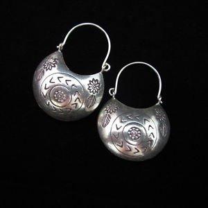 Fashion Silver Earrings Tribal Hoop Dangle Curved Schmuck Ohrringe ا�أ�راط ER163
