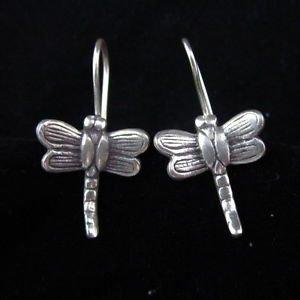 Fashion Silver Earrings Thai Karen Hill tribe Dragonfly Libellula Ohrringe ER94