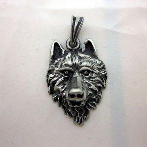 PEWTER Pendant Ciondolo Anhänger Fashion Biker mannaro Werewolf Dog Hound AW9