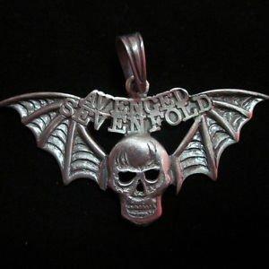 Fashion Pendant Ciondolo Anhänger Metal PEWTER Ghost Devil Biker Hipster PB03