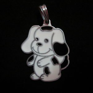 Fashion Pendant Ciondolo Anhänger Metal PEWTER Dogs puppy cute Biker Hipster PB7
