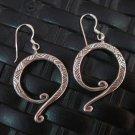 Thai Hill Tribe Earrings Fine Silver argento orecchini oorbellen Spiral 9 Shape