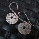 Thai Hill Tribe Earrings Fine Silver argento orecchini oorbellen S Spiral Retro