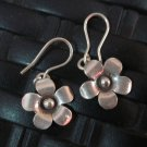 Fine Silver Earrings Hill Tribe Karen argento orecchini oorbellen Flower Petunia