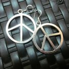 Thai Hill Tribe Earrings Fine Silver Genuine Peace Symbol Round