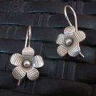 Thai Hill Tribe Earrings Fine Silver argento orecchini oorbellen Flower flora
