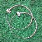 Thai Hill Tribe Earrings Fine Silver Dangle Big hammer Hoop CS61259221