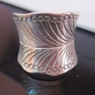 Fine Silver Rings Hill tribe Karen Argento Anello Band Feather Rolle Leaf L18