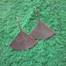 Fine Silver Earrings Hill Tribe Karen Fashions Dangle Swirl Fan Fin CS6125932112