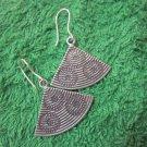 Fine Silver Earrings Hill Tribe Karen Fashions Dangle Triangles Fans CS51259233
