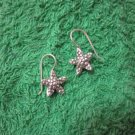 Thai Hill Tribe Earrings Fine Silver Fashions Dangle Cute stars 2pairs CS812593