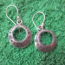 Thai Hill Tribe Earrings Fine Silver Fashion Drop Dangle Rounds Artist CS124593