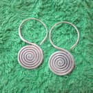 Thai Hill Tribe Earrings Fine Silver Fashions Dangle Spiral Roll small CS512592
