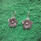 Fine Silver Earrings Hill Tribe Karen Fashions Dangle Flower Petunia CS712591111