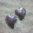 Fine Silver Earrings Karen Vintage Fashions Twin Hearts Lovely Hook CS19261