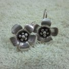 Thai Hill Tribe Earrings Fine Silver Vintage Flower Petunia Pedals CS194605