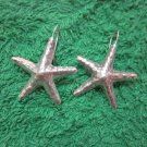 Fine Silver Earrings Hill Tribe Karen Fashions Dangle sea stars-fish CS712591133