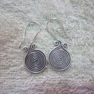 Thai Hill Tribe Earrings Fine Silver Spirale Coils Dangle Hook CS2716052