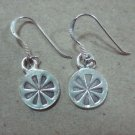 Thai Hill Tribe Earrings Fine Silver Vintage Circle Turbine Engrave CS44604