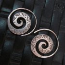 Thai Hill Tribe Earrings Fine Silver argento orecchini oorbellen Spiral engrave