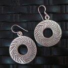 Thai Hill Tribe Earrings Fine Silver argento orecchini oorbellen Round DoNUT