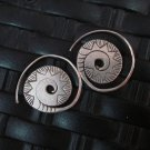 Fine Silver Earrings Hill Tribe Karen argento orecchini oorbellen Roll Spiral