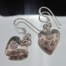 Thai Hill Tribe Earrings Fine Silver Ohrringe Schmuck Argento Tribal Heart Mind