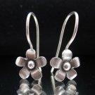 Fine Silver Earrings Ohrringe Schmuck Argento Madagascar periwinkle Flower x4prs