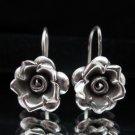 Thai Hill Tribe Earrings Fine Silver Flower Rose Ohrringe الأقراط  ER160