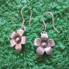 Fine Silver Earrings Hill Tribe Karen Fashions Dangle plain Flowers CS91259E122