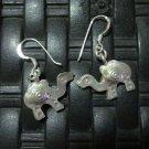 Thai Hill Tribe Earrings Fine Silver argento orecchini Camel Drop Dangle CS1011