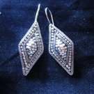 Thai Hill Tribe Earrings Fine Silver karen tribal cool trapezoid er55