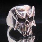 Fashion Stainless Steel Ring Size 9 Vintage Men Woman Skull Biker anello ringe 5