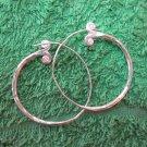 Fine Silver Earrings Hill Tribe Karen Fashion Drop Dangle Hoops Vintage CS124591