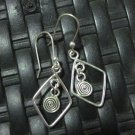 Thai Hill Tribe Earrings Fine Silver Ohrringe Fashion Drop Dangle CS1234